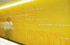 Panasonic - GHD - Graham Hanson Design #yellow #environment #space #large #human #signage #type #outline
