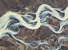 Andre → Iceland. River. → Patterns 1 #landscape #photography #arial #erosion #iceland #river