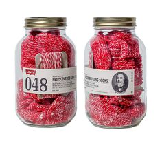 lovely-package-levis-basics-1 #red #packaging #levis #jar #socks