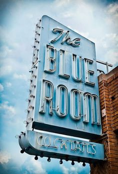 Yawn creative #vintage #blue #sign #electric