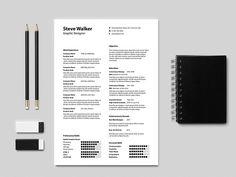 Free Light Elegant Resume with Simple Design
