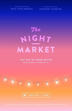 NightMarket_June #market #event #astrology #design #publicity #night #kentucky #poster #groove #light #moon