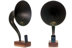 iVictrola – The iPhone Dock that bears euphonious Traces of the Past | Gentleman's Gadgets | The Source of Inspiration for Modern Men #iphone #furniture #technology
