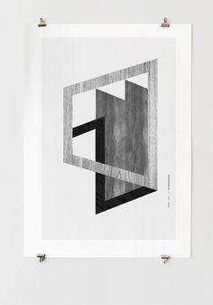 Eternal Frame #white #graphiquerie #black #poster #type