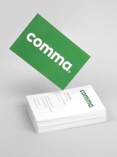 Comma on Behance #brand #cards #business #identity