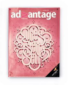 Advantage Magazine Cover on Behance #cover #type #magazine #typography