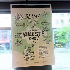 Verdens Kuleste Dag - Uglylogo #uglylogo #skaren #illustration #frode #poster