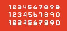 Font design by Philippe nicolas #specimen #type specimen #grid #construction #font #typeface #type design #colors #number #exponent #creati