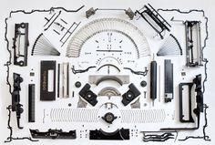 knolled typewriter guts #inspiration #creative #knolling #examples #photography #knoll #organization