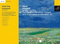 Layout from Van Gogh Museum › PatternTap #gogh #digital #painting #layout #web