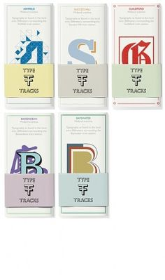 Type tracks guidebook, Uriah Gray's Portfolio #print