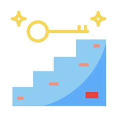 See more icon inspiration related to accomplish, success, key, business and finances, seo and web, promotion, achievement, goal, education, ladder, flag, security and people on Flaticon.