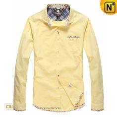 Mens Cotton Button Down Shirts CW114701