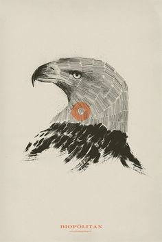 POSTERS III on the Behance Network #mark #biopolitan #charcoal #eagle #minimal #brooks