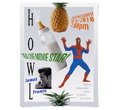 Sally Thurer is a Creative Director in New York City #spiderman #experimental #poster #pineapple #typography
