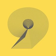 Number 9 | Flickr - Photo Sharing! #nine #yellow #design #graphic #letter #identity #logo