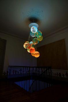 astronautica #chandelier #globes #light