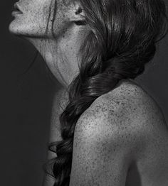 Tumblr #white #woman #black #photography #portrait #braid #and #freckles