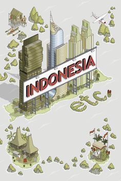 Indonesia etc. book cover illustrations #rob #design #book #illustrations #cover #culture #indonesia #hunt