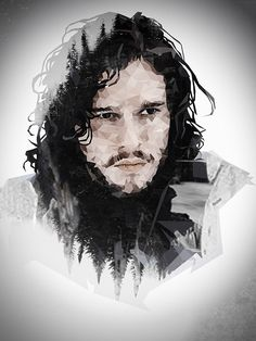 jon snow poly drawing