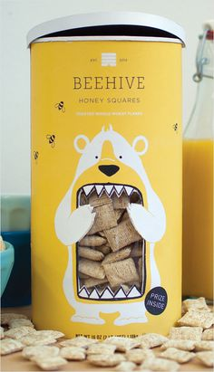 Concept Branding and Packaging: 'Beehive Honey Squares' #packaging #design #graphic