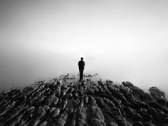 Nathan Wirth - Self & | Doctor Ojiplático #white #water #black #landscape #calm #rocks #photography #strange #and #surreal