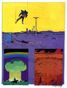 """Missile Blizzard (From Moebius's short story """"Absoluten...) #illustration #comic #moebius"""