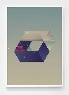 Shapes of the space #print #shape #space #poster