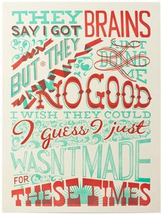 PrettyClever #red #typography #design #poster #silk #green