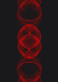 RED COMPLEXITY GRAPHICS #dots #circle #rendered #red