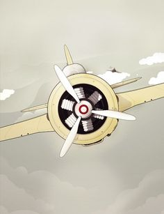 Selected illustrations I. on the Behance Network #illustration #plane