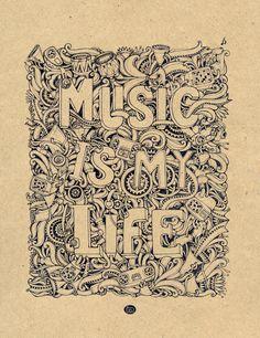 Music is my life by ~MrSithZam #mrsith #sithzam #sith #line #house #boa #art #detail