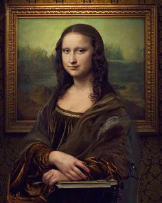 Revealing The Truth Mona Lisa on Behance #cern #mona #tadao #photo #photomanipulation #airbrush #lisa
