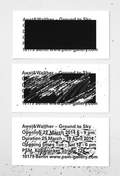- Awst & Walther - Exhibition Invitation by Studio... #print #cards
