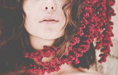 Gema on Behance #face #photography #girl #flowers