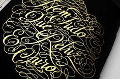 Description #lettering #zine #print #black #gold
