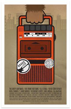 Bragg Jam 2013 Poster #giant #jam #modern #gig #illustration #bragg #poster