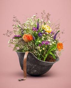 #helmet #flowers #palepink
