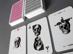 Barebones PlayingCards - TheDieline.com - Package Design Blog #packaging #deck #design #graphic #playing #skull #cards