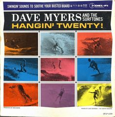 All sizes | Dave Myers & The Surftones - Hangin' Twenty! | Flickr - Photo Sharing! #album #record #cover #1960s #illustration #artwork