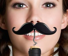 Handle Bar Moustache Wine & Beer Opener #tech #flow #gadget #gift #ideas #cool