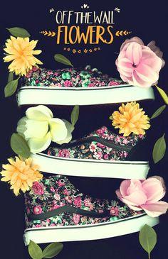Vans Floral Image #pattern #leaf #victorian #floral #type #scanner #flowers