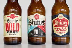 Karl Hebert's Design Work -- Like the red/blue use with the darker gray #shiner #beer #bottle