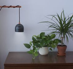 concrete-lamp_scene_lamp-on.jpg #light #lamp #concrete #copper #industrial #design #pendant #interior