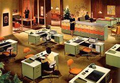 Mid Century Steelcase office furniture. #60s #midcentury #interior #office