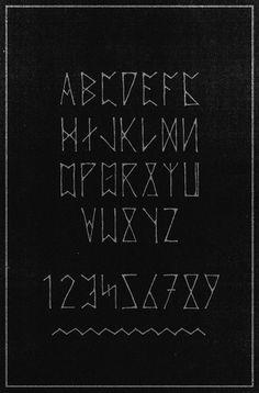 - sam chirnside - #font #alphabet #runic #rune #typography