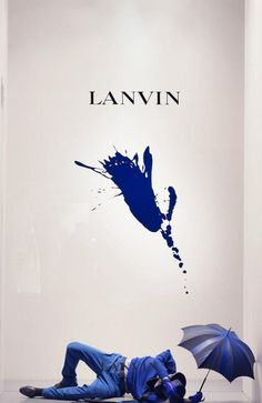 LANVIN #window #blue #splatter