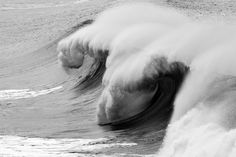 Escondida Shorebreak, Salina Cruz, Mainland Mexico #white #b&w #& #black #wave