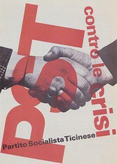 Max Huber, Partito Socialista Ticinese, 1974 #max #huber #design #graphic #poster #1974