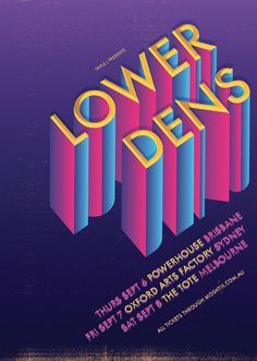 Lower Dens Poster Anne Cobai :: illustration #dens #lower